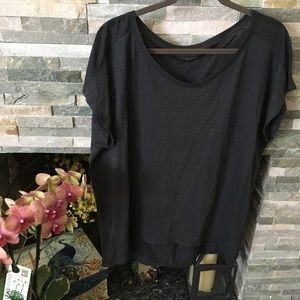 Eileen Fisher charcoal top